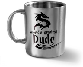 Hot Muggs World's Greatest Dude - Message Stainless Steel Mug