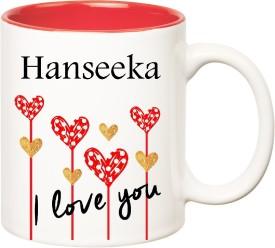 HuppmeGift I Love You Hanseeka Inner Red  (350 ml) Ceramic Mug