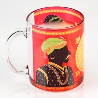 LetterNote Rajput Transparent Combo Glass Mug (325 Ml, Pack Of 2)