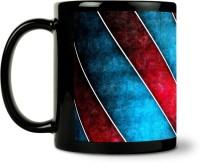 ShopMantra Grunge Blue And Red Ceramic Mug (300 Ml)