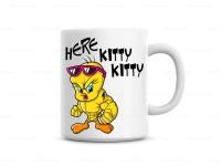 Huppme Here Kitty Kitty  Ceramic Mug (350 Ml)