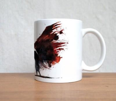 StyBuzz Life Quote White Ceramic Mug (300 Ml)