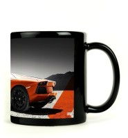 Shoprock Lamborghini Aventador Mug (Black, Pack Of 1)