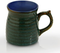 SahajPreet Green & Blue Ripple Duo Tone Ceramic Coffee/Tea S Ceramic Mug (280 Ml, Pack Of 6)