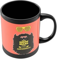 PosterGuy With Great Beard Comes Great Responsibility Quirky Illustration Ceramic Mug (280 Ml) - MUGEBZZ2MXHRSGGW