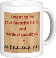 Exoctic Silver Love Quotes 004 Ceramic Mug (300 Ml)