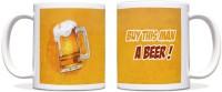 ShopMantra Buy Beer Black Ceramic Mug (300 Ml)