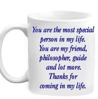 Jiyacreation1 Beautiful Quote For Friendship Multicolor White Ceramic Mug (3.5 Ml)