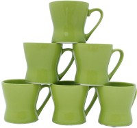 Aarzool Duo Tone Bucket Shape Tea Cups Ceramic Mug (200 Ml, Pack Of 6)