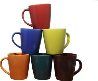 Onlinemaniya Onmcup40 Glass Mug (130 Ml, Pack Of 6)