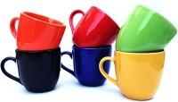 Toygully Tea Cup Ceramic Mug (50 G, Pack Of 6)