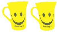 SHREE TARA Smiley Yellow Color Tea Cup Plastic Mug (510 Ml, Pack Of 2)