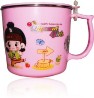 DRL DRL Pink Girl Mug Plastic, Stainless Steel Mug (150 Ml)