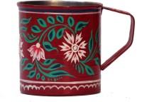 ECraftIndia Handpainted Decorative Stainless Steel Mug (180 Ml) - MUGEGCAR42ZG6GYS