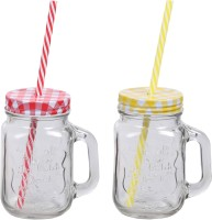 ZIDO Classic Mason Jar Glass Mug (450 Ml, Pack Of 2) - MUGEGXVC45DHEGZB