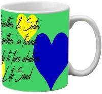 Mesleep Rakhi Quotes 31 Ceramic Mug (325 Ml)