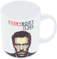 PosterGuy Everybody Lies House M.D Illustration TV Series Inspired Ceramic Mug (280 Ml)