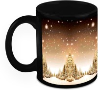 HomeSoGood Christmas Snowfall Ceramic Mug