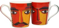 IVY By Home Stop Mewar Mugs - Set Of 2 Bone China Mug (265 Ml, Pack Of 2)