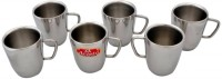 Aristo VR498 Stainless Steel Mug (200 Ml, Pack Of 6)