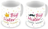 Little India Fancy Printed Designer Delightful Coffee S Pair 694 Ceramic Mug (300 Ml, Pack Of 2)