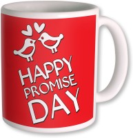 Photogiftsindia Happy Promise Day With Bird Coffee Mug (White, Pack Of 1)