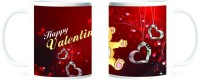 Refeel Gifts Happy Valentines Day Mug (Red, Yellow, Pack Of 1)