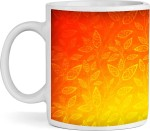 BS Enterprise Plates & Tableware BS Enterprise Orange leaves Ceramic Mug