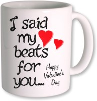 Photogiftsindia I Said My Love Beats Gifts For Valentine Coffee Mug (White, Pack Of 1)