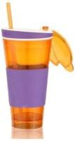 Craftzcreation Snackeez Multi Purpose Drink & Snack Travel Cup Plastic Mug (550 Ml)