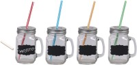 Platex Classy Mason Jar Glass Mug (450 Ml, Pack Of 4)