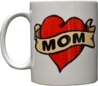 Giftsmate Hot Red Love You Mom Ceramic Mug (325 Ml)