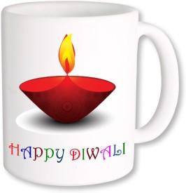 PhotogiftsIndia Diya With Happy Diwali Coffee Ceramic Mug