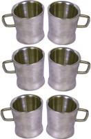 Dynamic Store Set Of 6 Double Wall Milano Cups Stainless Steel Mug (100 Ml, Pack Of 6)