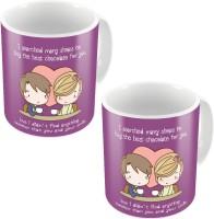 Home India Fancy Design Printed Cute Coffee S Pair 716 Ceramic Mug (300 Ml, Pack Of 2)