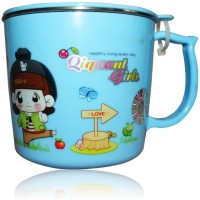 DRL DRL Blue Girl Mug Plastic, Stainless Steel Mug (150 Ml)