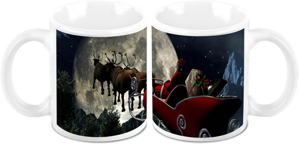 HomeSoGood Christmas Convoy Ceramic Mug