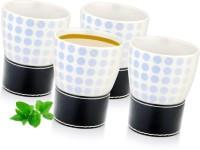 Mosaic Tea Cup Ceramic Mug (150 Ml, Pack Of 4)