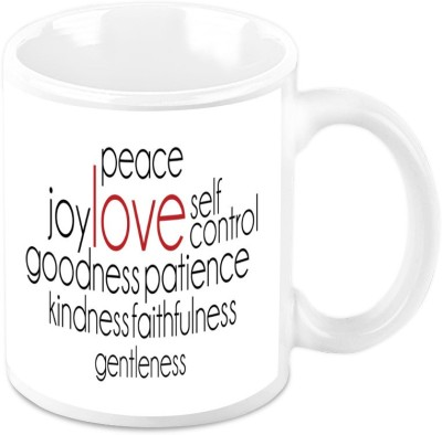 HomeSoGood Love Brings Peacefulness Ceramic Mug