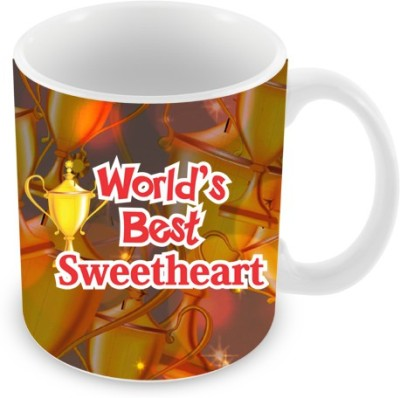 Everyday Gifts Plates & Tableware Everyday Gifts World's Best Sweetheart Ceramic Mug