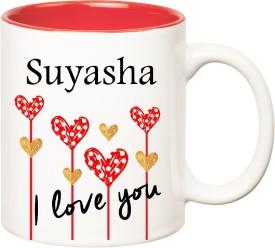 HuppmeGift I Love You Suyasha Inner Red  (350 ml) Ceramic Mug