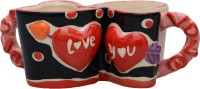 Lifestyle-You Romantic Coffee IG54B Ceramic Mug (100 Ml, Pack Of 2)