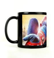 Shoprock Spiderman Web Mug (Black, Pack Of 1)