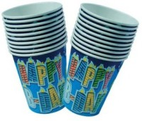 Smartcraft Happy Birthday Cup-Blue Paper Mug (100 Ml, Pack Of 10)