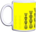 Shopkeeda Yellow Printed Pattern Mug - Yellow, Pack Of 1
