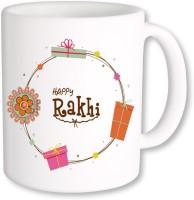 PhotogiftsIndia Happy Rakhi 03 Ceramic Mug (325 Ml)