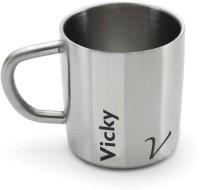 Hot Muggs Me Classic  - Vicky Stainless Steel Mug (200 Ml)