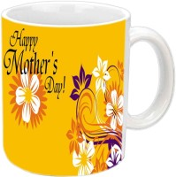 Jira Creation1 Happy Mother's Day With Yellow Flowers White Ceramic Mug (3.5 Ml)
