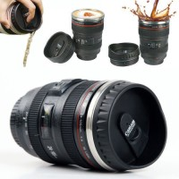 Gadget Bucket Camera Lens Shape Cup Coffee Tea  Stainless Steel Thermos Stainless Steel Mug (250 G)