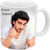 Jiyacreation1 Arjun Kapoor Multicolor White Ceramic Mug (3.5 Ml)